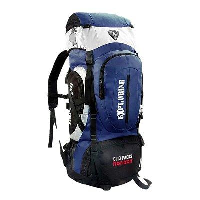 Mochila Camping 55 Litros - Azul - Clio