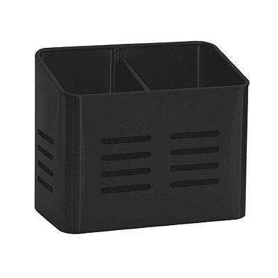 Porta Utensílios Duo Inox Black - Mimo Style