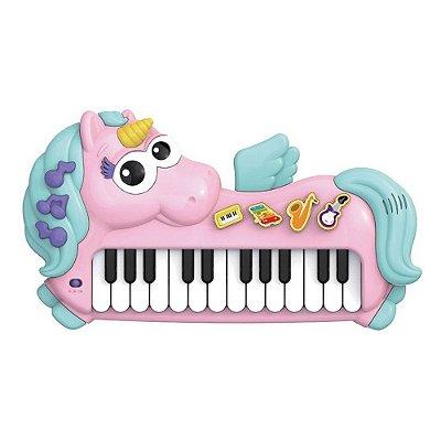 Piano Musical Unicórnio - Braskit