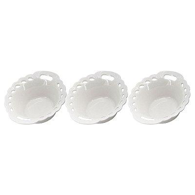 Jogo de Bowls Redondo Porcelana - 3 Peças - Dynasty
