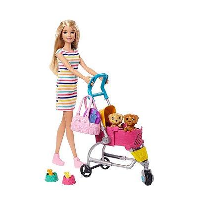 Boneca Barbie - Carrinho de Cachorros - Mattel