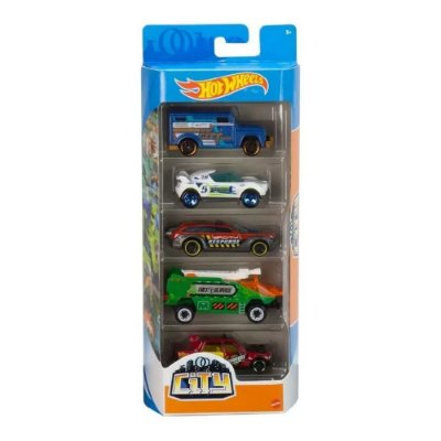 Kit Hot Wheels 5 Unidades - City - Mattel