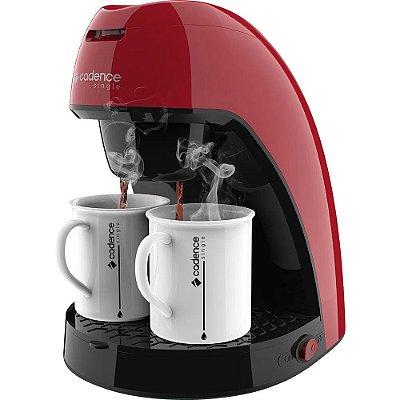 Cafeteira Elétrica Single Colors - Vermelho Cereja - Cadence
