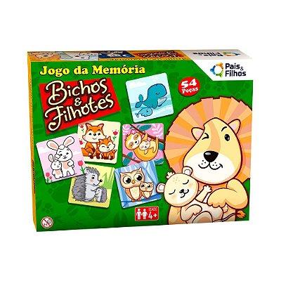 Jogo da Memória Bichos e Filhotes - 54 Peças -  Pais e Filhos