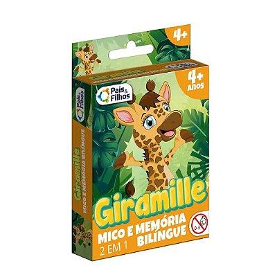 Jogo do Mico e da Memoria Giramille Bilingue - 2 em 1 - Pais e Filhos