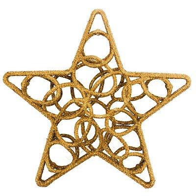 Enfeite de Natal - Estrela Vazada Rosê - Wincy