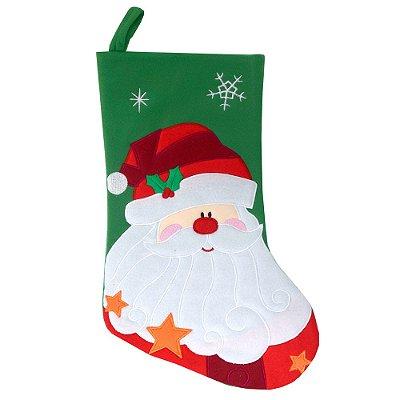 Enfeite de Natal - Bota Papai Noel Verde - 40 cm - Master Christmas
