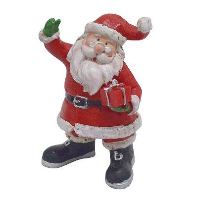 Enfeite de Natal em Resina - Papai Noel com Presente - Wincy