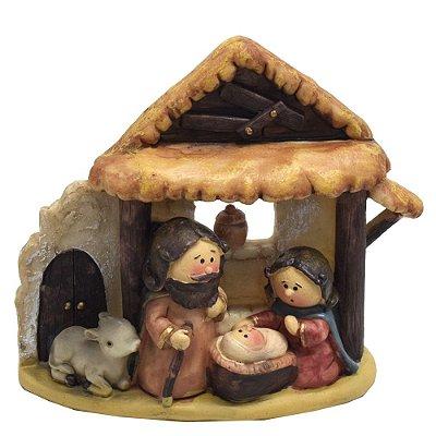 Enfeite de Natal em Resina - Sagrada Família - Wincy