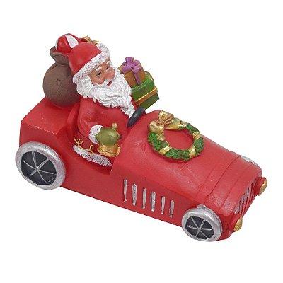 Enfeite de Natal em Resina - Carrinho Vermelho - Wincy