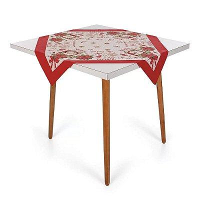 Toalha de Mesa Natalina - Receita Noel - 78 cm x 78 cm - Karsten