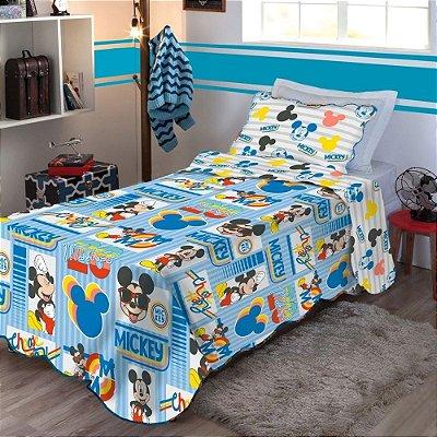 Kit Colcha Infantil Mickey Mouse Solteiro - Jolitex