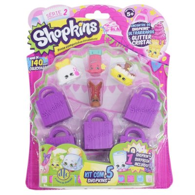 Shopkins Blister Kit com 5 Personagens - Série 2 - DTC