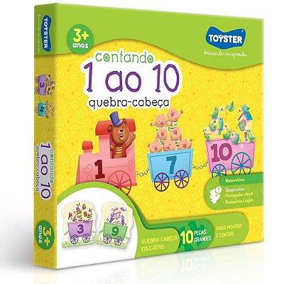 Quebra-Cabeça Educativo Contando do 1 ao 10 - Toyster