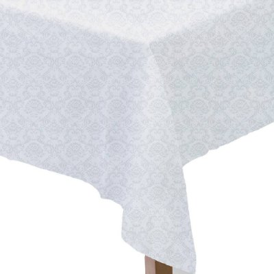 Toalha de Mesa  Neo Clássico - 1,60 x 1,60m - Branco