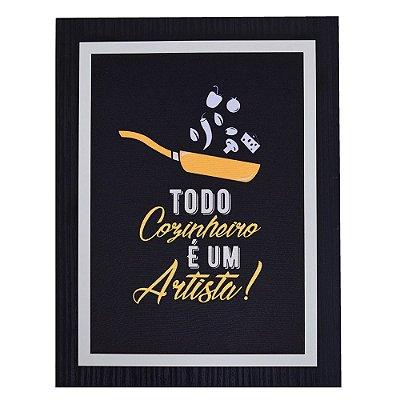 Quadro Decorativo Cozinheiro Artista - 30 x 23 cm