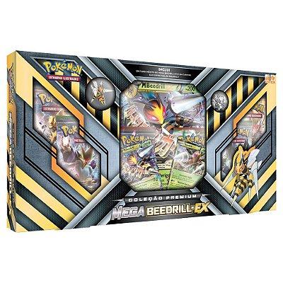 Pokémon - Box Mega Beedrill-EX - Coleção Premium - Copag