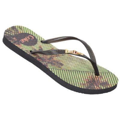 Chinelo Feminino com Metal Tropical Square - Cola-Cola
