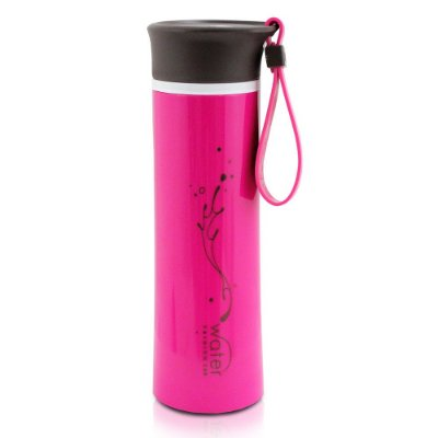 Garrafa Water Fashion com Tampa Pink - 380ml