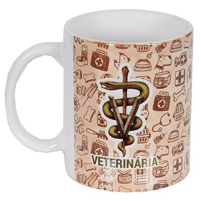 Caneca de Cerâmica Profissões - Veterinária - Vikos