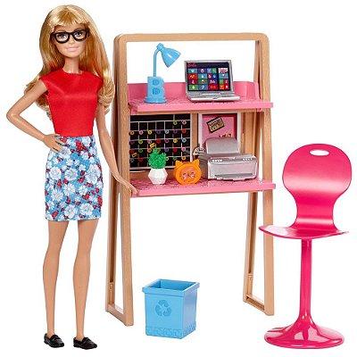 Boneca Barbie Móveis - Escritório - Mattel
