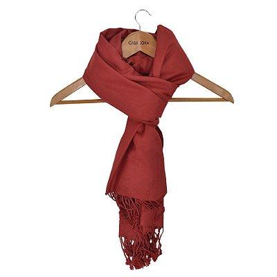 Echarpe Lisa Vermelho Escuro - 160 x 55 cm