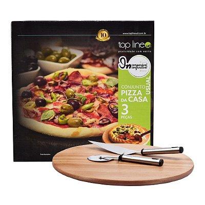 Conjunto Pizza da Casa - 3 Peças - Top Line