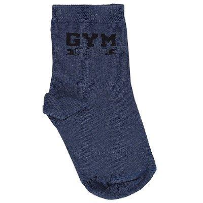 Meia Infantil Masculina Gym Azul - Lupo