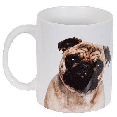 Caneca de Cerâmica - Eu amo meu Pug - Vikos
