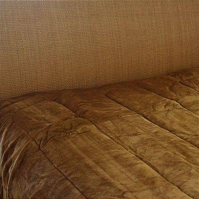 Cobertor Flannel com Sherpa - Cappuccino - Naturalle