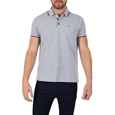 Camisa Polo Básica Cinza - Ellus