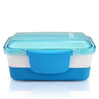 Pote para Alimentos Fitness - 2 partes - Azul