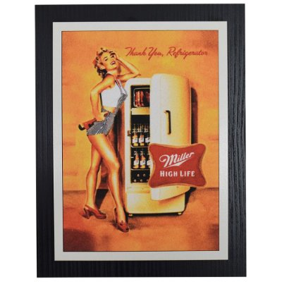 Quadro Decorativo Cerveja Miller High Life - 30 x 23 cm