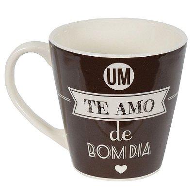 """Caneca de Cerâmica - Amor - """"Um te amo de Bom Dia"""" - Yoi"""