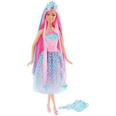 Barbie Reino dos Penteados Mágicos - Princesa Rosa - Mattel