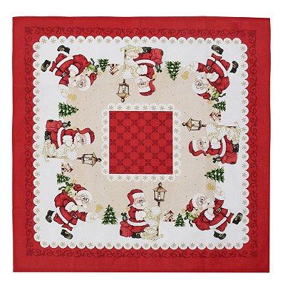 Toalha de Mesa - Papai Noel Presentes - 78 cm x 78 cm - Döhler
