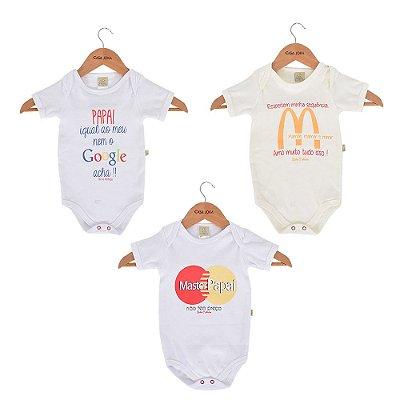 Kit Body Slogans Baby - Bicho Molhado