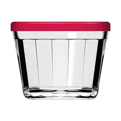 Pote Copo Americano com Tampa Vermelha - 150 ml - Nadir