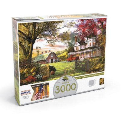 Quebra-Cabeça Fazenda Americana - 3000 peças - Grow