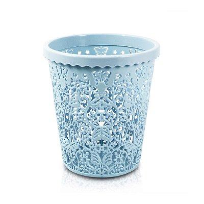 Cesto Organizador Lifestyle Redondo Pequeno Azul - Jacki Design