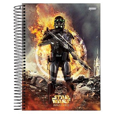 Caderno Star Wars Rogue One - Death Trooper Fire - 10 Matérias