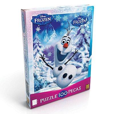 Quebra-Cabeça Olaf Frozen- 100 peças - Grow