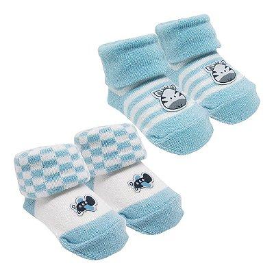 Kit Meias Sortidas - Azul Bebê - Pimpolho