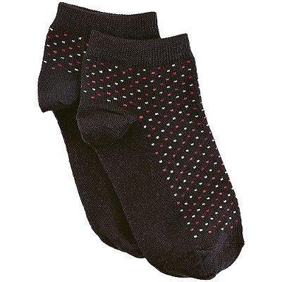 Meia Soquete Feminina Socks Pontinhos - Preta - Lupo
