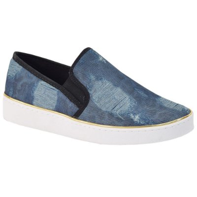Tênis Slip On Jeans Destroyed - Vizzano