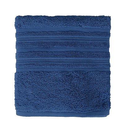 Toalha de Rosto Maxy Fio Penteado - Azul Escuro - Karsten
