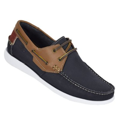 Sapato Masculino Deckshoes Marlin - Marinho/Terra - Samello