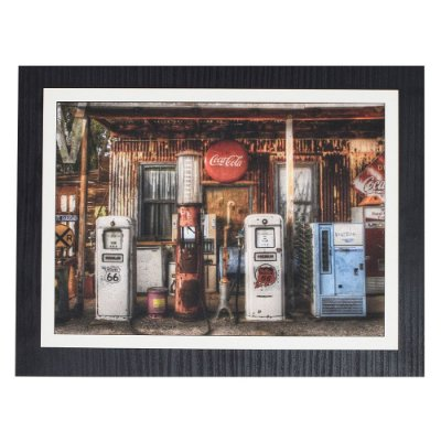 Quadro Decorativo Coca-Cola Station - 30 x 23 cm