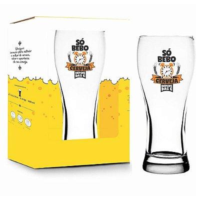 Copo Só Bebo Cerveja - 680 ml - Brasfoot