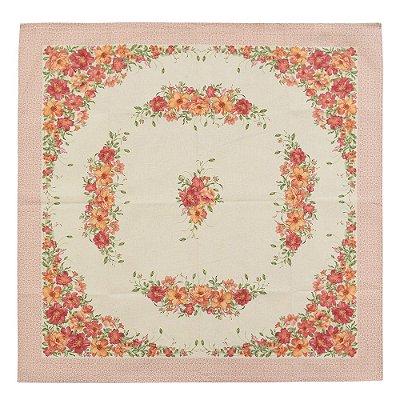 Toalha de Mesa 78 x 78 cm - Flores Louna - Karsten